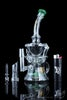 "Forest Green - Sesh Supply ""Artemis"" Propellor Perc Swiss Recycler with Color Accents - The Artemis by Sesh Supply in Forest Green"
