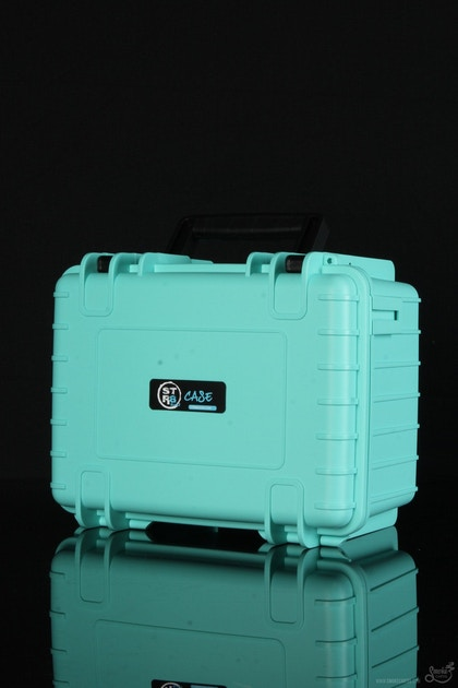"STR8 Case 10"" Hard Top Storage Case with 3 Layer Protective Foam - Featured View - Teal - Smoke Cartel 
