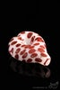 White Heart-Shaped Hand Pipe with Red Polka Dot Accents - Featured View