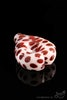 White Heart-Shaped Hand Pipe with Red Polka Dot Accents - Back View